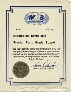 MACS certification